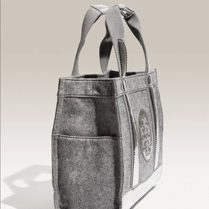 Tory Burch Flannel Metallic Tote